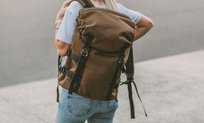 Azo-Equipment brown rucksack