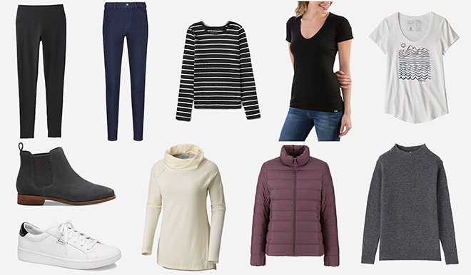 Travel wardrobe capsule budget cold weather